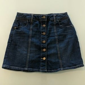 Jolt Denim Mini Skirt